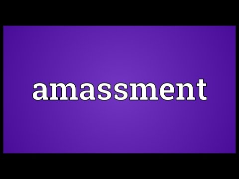 Header of Amassment