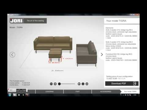 Furniture configurator JORI - part 4
