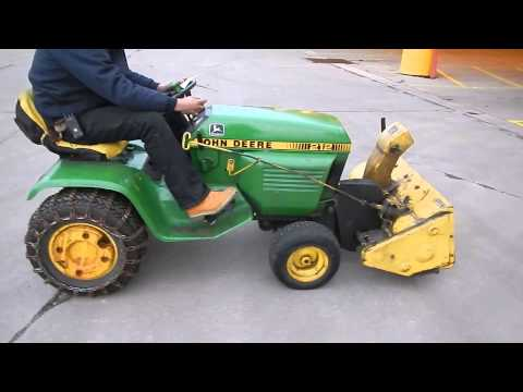 212 John Deere Riding Lawn Mower Includes 38