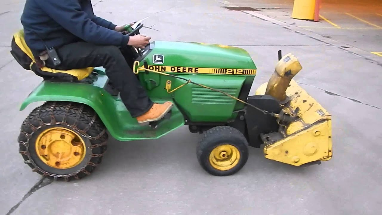 "212 John Deere Riding Lawn Mower Includes 38"" Snow Blower Attachment ..."