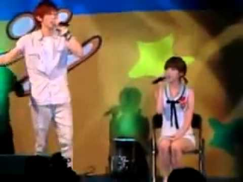 Eunhyuk & IU singing Letter to You on Aug 5, 2009