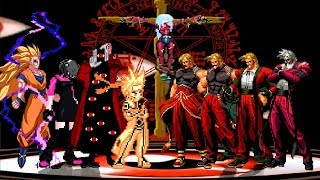 KOF MUGEN ANIME TEAM VS RUGAL TEAM