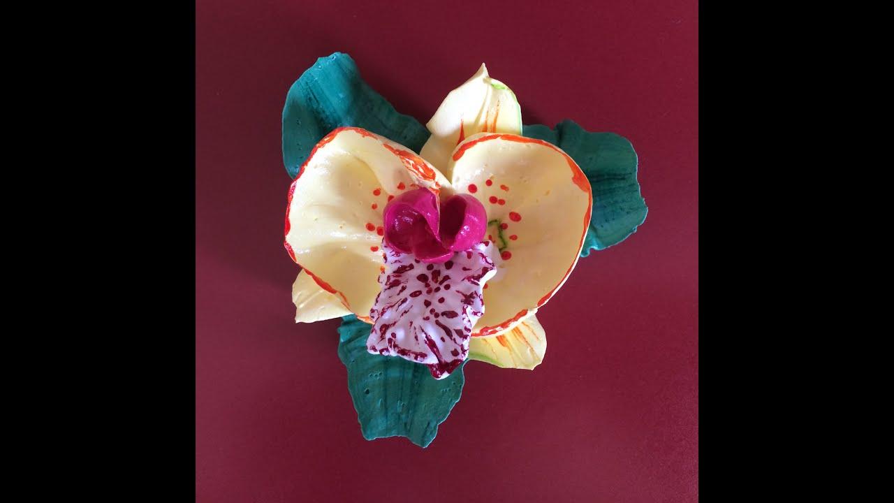Как сделать из крема цветок лилии