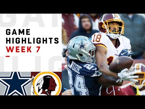 Cowboys vs. Redskins Week 7 Highlights | NFL 2018