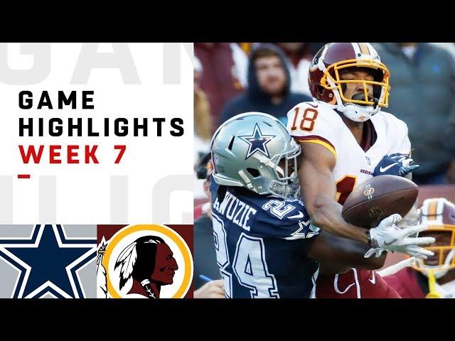 Cowboys vs. Redskins Week 7 Highlights  NFL 2018