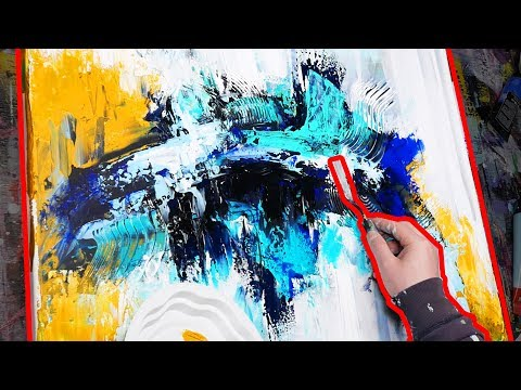 How To paint Palette Knife Painting step by step with acrylic | Echoes | John Beckley