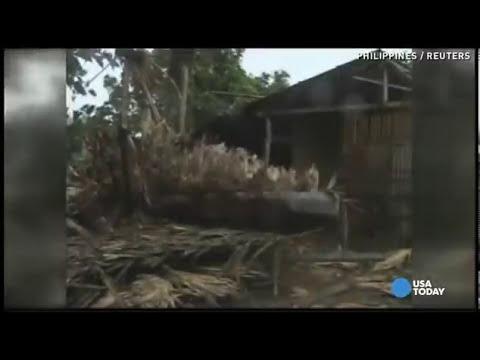 Super typhoon Haiyan yolanda Philippines - Huge Tsunami Waves [INCREDIBLE VIDEO]