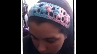 Download Crochet Puff Flower Stitch Headband 3Gp Mp4