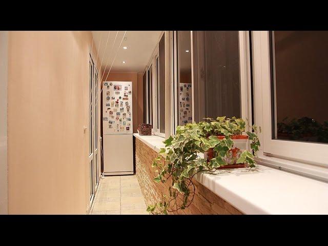 Максимус окна - отделка балкона камнем, вынос холодильника н.