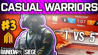RAINBOW SIX SIEGE CASUAL WARRIORS #3 - Pro League Players Playing Casual