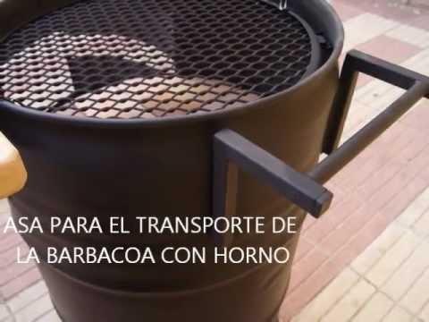 Barbacoa y horno hecho con bid n de 200lts youtube - Como se construye una barbacoa ...