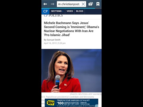 RAPTURE WARNING From Michele Bachmann