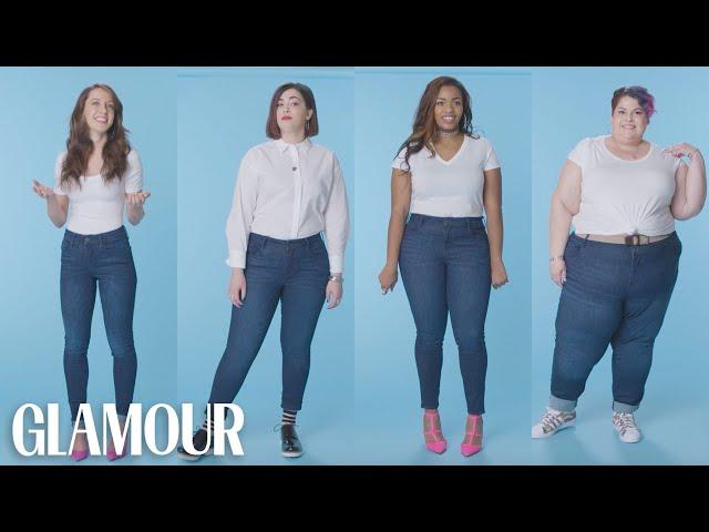 Women Sizes 0 Through 28 Try on the Same Jeans | Glamour thumbnail