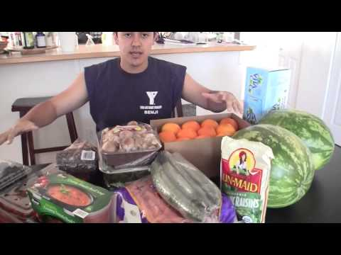 Lose Weight, Feel Healthy, and Be Happy SHOPPING LIST!!! BenjiManTV