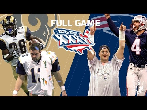 Super Bowl Xxxvi Patriots Dynasty Begins Rams Vs Patriots Nfl