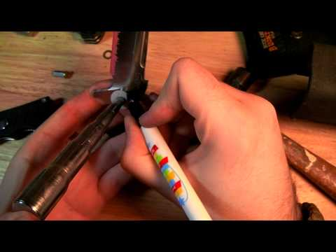 Acid Etch for Folding Knife Blades Tutorial
