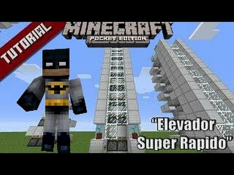 COMO HACER UN ELEVADOR MINECRAFT POCKET EDITION 0.15 TUTORIALES DE REDSTONE ABRE LA DESCRIPCIÓN