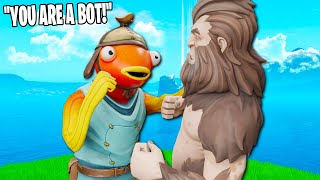Fishtick VS Bigfoot who will win!? (Fortnite Creative Mode Deathrun)