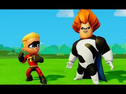 Мультик игра Дэш Парр Шастик Суперсемейка против Синдром и маишки Дисней The Incredibles & Cars