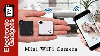 Wearable Mini WiFi Camera with Mini 720p Resolution, Motion Detection