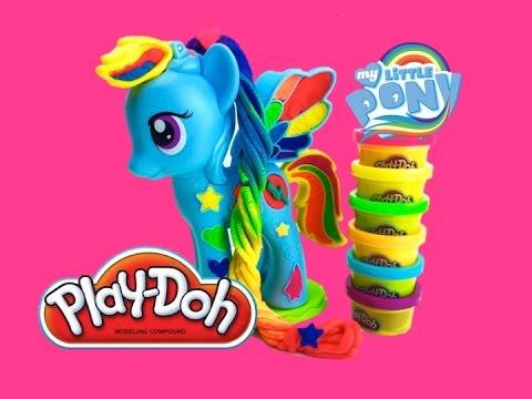 Лепим из пластилина Плей до Радугу Дэш Play Doh Rainbow Dash My Little Pony Мой Маленький Пони