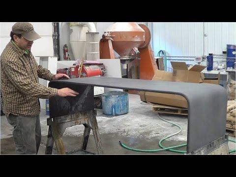 Warped Concrete Coffee Table - GFRC - Glass Fiber Reinforced Concrete