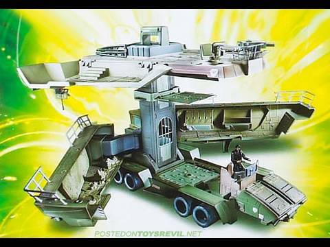 GI Joe Rise of Cobra The Pit Mobile Headquarters with General Hawk Playset Movie Toy Review