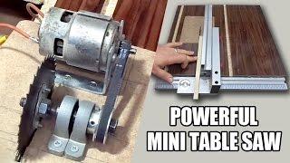 Table Saw - How to make Powerful Mini Table Saw - 12volt - Güçlü Tezgah testere yapımı