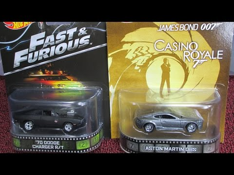 Hot Wheels Retro 2014 D Fast Furious Knight Rider James Bond Tommy Boy Karate Kid