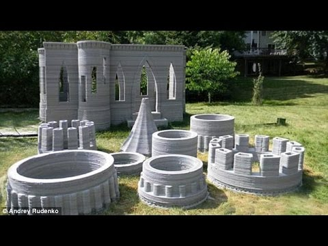 If it floats your moat… U.S. engineer builds world's first 3D-printed castle complete with turrets