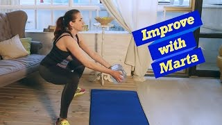 Wide squats for backside leg muscles - Improve With Marta