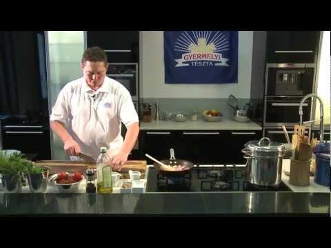 Juhtúrós sült tészta fokhagymás tarjával
