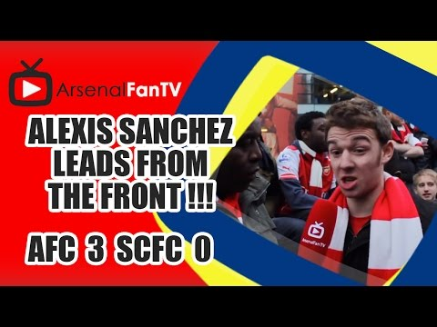 Alexis Sanchez Leads From The Front !!! - Arsenal 3 Stoke City 0
