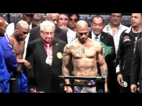Mayweather vs Cotto Weigh-in Gets Heated!