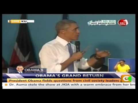 President Obama's meeting with Kenyan Civil Society