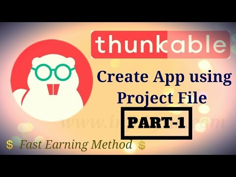 Starting Thunkable Tutorials ! Create Android Apps without Programming & Coding PART-1