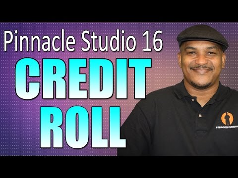 Pinnacle Studio 16 & 17 - Closing Credits & Scrolling Text Tutorial