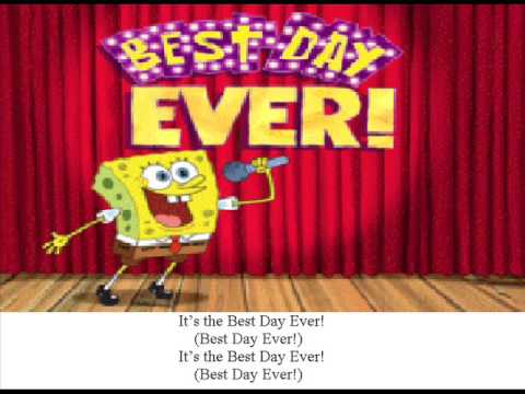 The spongebob squarepants best day ever video youtube for Top pictures of the day