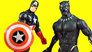 Huge Marvel Toy Collection With Black Panther Captain America Surprise Toys And Super Hero Mashers