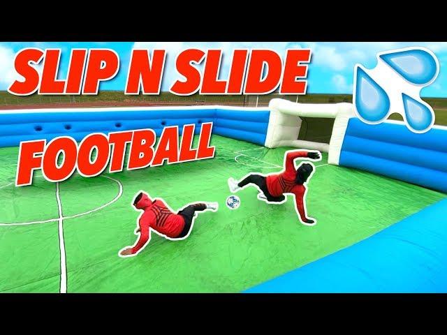 GIANT SLIP N SLIDE FOOTBALL! впёр  BILLY VS JEZZA