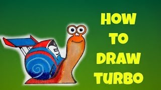 How To Draw Turbo  a.k.a Theo