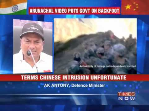 A K Antony admits Chinese intrusion