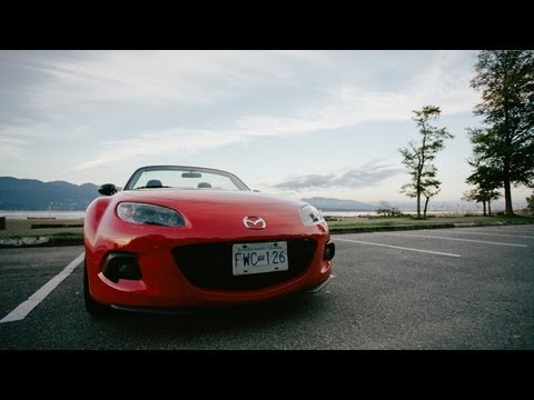 drivingvancouver.ca 2013 Mazda Miata MX5 in slow motion! Review versus the Scion FRS and Subaru BRZ!