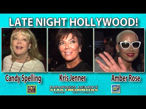 Kris Jenner, Candy Spelling, & Amber Rose dining out in Hollywood