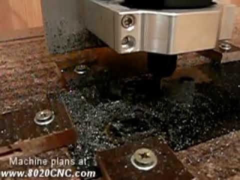 Milling STEEL! DIY homemade CNC machine in action.
