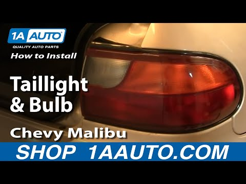 How To Install Replace Taillight and Bulb Chevy Malibu 97-03 1AAuto.com