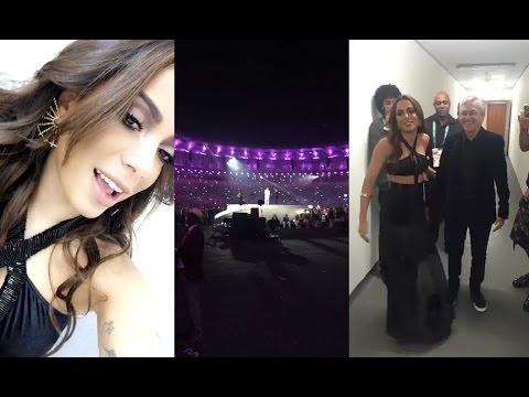Anitta entrando na abertura das Olimpíadas Rio 2016 [snapchat: anittaofficial] @Anitta
