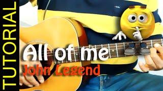 Como tocar ALL OF ME en guitarra Cover