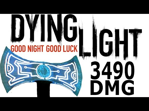 Dying Light Extremely Rare Gold Tribal AXE 3490 DMG