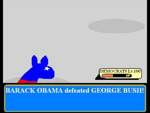 Barack vs Bush - Pokemon style!